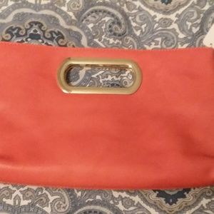 Orange Charming Charlie Clutch new with tags
